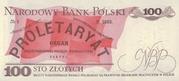 100 zlotych – revers