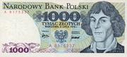 1000 zlotych – avers