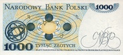 1000 zlotych – revers