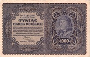 1000 Marek Type 1919 – avers