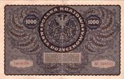 1000 Marek Type 1919 – revers