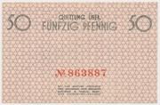 50 Pfennig (Getto) – revers