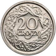 20 groszy (Essai) – revers