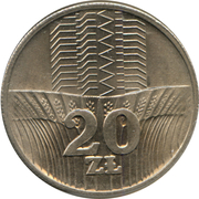 20 zlotych -  revers