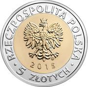 5 Złotych (Discover Poland – Poznań Town Hall) -  avers