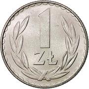 1 zloty -  revers