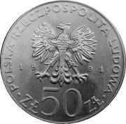 50 zlotych Wladyslaw  I Herman -  avers