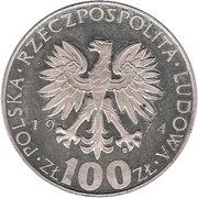 100 zlotych Marie Curie -  avers