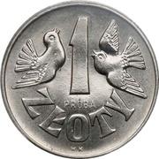 1 Złoty ( Pigeons; Trial Strike) -  avers
