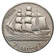 2 Złote (Gdynia Seaport short próba; Trial Strike Ag) – revers