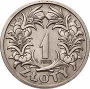 1 Złoty (Trial Strike Ni with próba) – revers