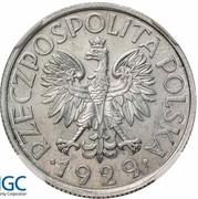 1 Złoty (Trial Strike Al próba 9 o'clock) – avers