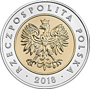 5 Złotych (100th Anniversary of Regaining Independence by Poland) -  avers