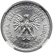 1 Złoty (type large ; petite date) -  avers