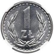 1 Złoty (type large ; petite date) -  revers