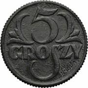 5 Groszy (German Occupation WW II; Trial Strike with Próba) -  revers