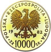 10000 Złotych (Papal Visit) -  avers