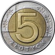 5  Zlotych -  revers