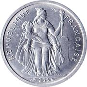 2 francs (sans IEOM) – avers