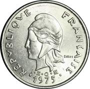 20 francs (IEOM) -  avers