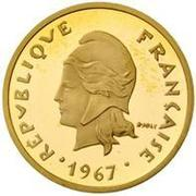 20 francs (Piedfort or) – avers