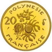 20 francs (Piedfort or) – revers
