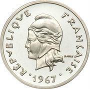 20 francs (Piedfort argent) – avers
