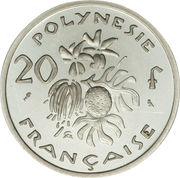 20 francs (Piedfort argent) – revers