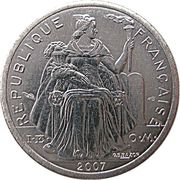 1 franc (IEOM) – avers