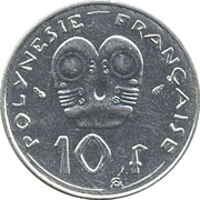 10 Francs (IEOM) -  revers