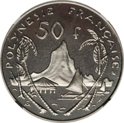 50 francs (Essai) – revers