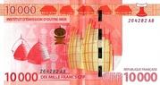 10,000 Francs CFP – revers