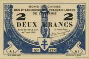 2 Francs – avers