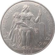 5 francs (IEOM) – avers