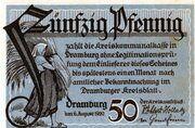 50 Pfennig (Dramburg) – avers
