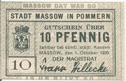10 Pfennig (Massow in Pommern) – avers