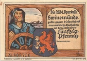 50 Pfennig (Swinemünde) – avers