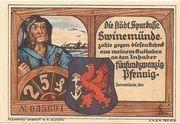 25 Pfennig (Swinemünde) – avers