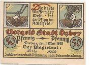 50 Pfennig (Daber) – avers