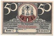 50 Pfennig (Bütow) – avers