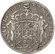 ⅔ Thaler - Karl XII. – revers