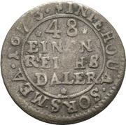 1/48 Thaler - Karl XI. – revers