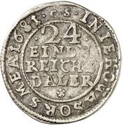 1/24 Thaler - Karl XI. – revers