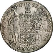 1 Thaler - Carl X Gustaf (Occupation suédoise) – revers