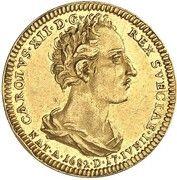 1 ducat Karl XII (Mort) – avers