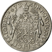 ⅓ Thaler - Karl XI. – revers