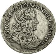 ⅓ Thaler - Karl XI. – avers