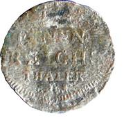 1/24 Thaler - Adolf Fredrik – revers
