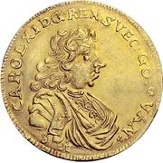 2 Ducat - Karl XI. – avers
