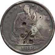½ dollar (contremarque) -  avers